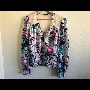 Bebe long sleeve blouse